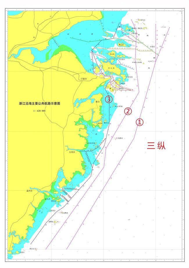 Map-of-main-shipping-routes-off-the-coastline-of-Zhenjiang-Province